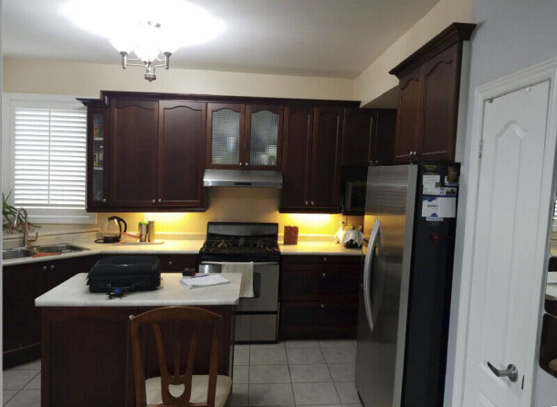 Kitchen Cabinets - Solid Maple Wood - Cherry Finish - Used ...