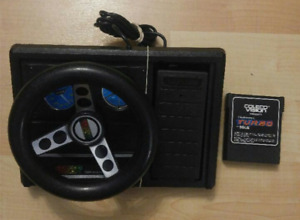 Colecovision steering wheel with turbo video games