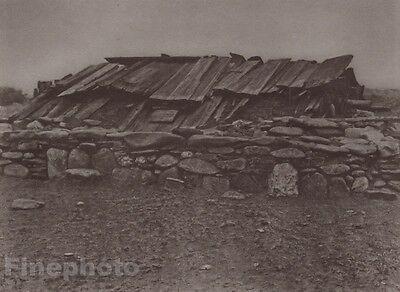 1900/72 Photogravure NATIVE AMERICAN INDIAN Sweat House Art EDWARD CURTIS 11x14