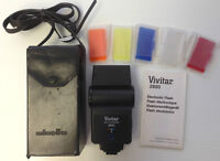 Vivitar 2800 Auto Thyristor Flash with Diffusers Manual & Case