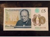 AA SERIES £5 NOTE - RARE