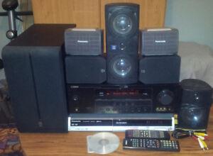 Amplificateur 500 watts avec 6 haut-parleurs et graveur DVD