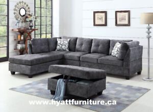 Elegant Fabric Sectional Sofa Set only $798 - Deliver in GTA