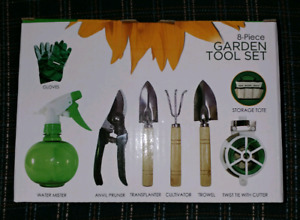 FOR SALE - 8 piece garden tool set