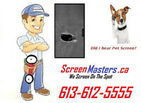 We are your first choice in mobile window and door screen repair
