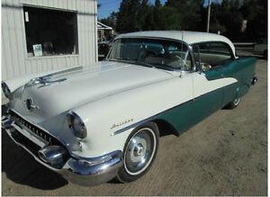 oldsmobile 1955 blanche/verte