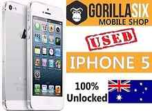 Perfect condition iPhone 5 WHITE 100% FACTORY UNLOCKED Strathfield Strathfield Area Preview