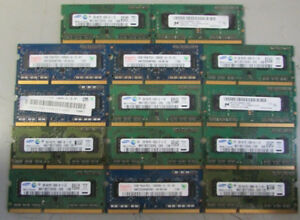 Lot of 14 Assorted 2GB 1Rx8 PC3 - 10600s laptop memory
