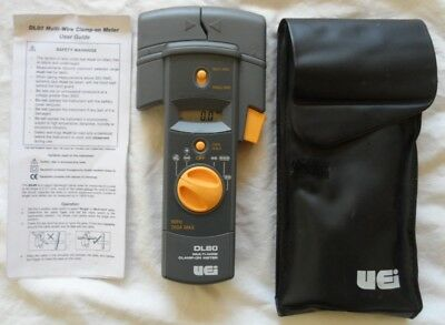 Dl80 Uei 200a Ac Clamp-on Multi-wire Clamp Current Meter Electrician Tester Read