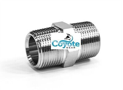 """316 SS 1/2"""" Male NPT Hex Nipple Stainless Steel Brewing Coyote Gear > 304 Pipe"""