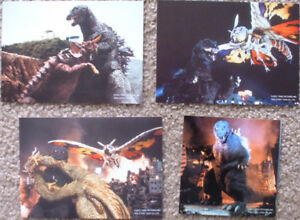 Godzilla, Mothra, etc., Japan movie promo post cards + sticker
