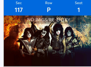 2 tockets for KISS,  3 April 2019