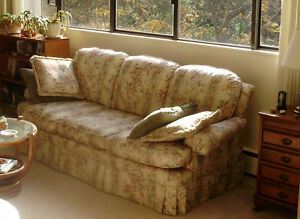 Sofa, Faded But Clean, Well-Stuffed, Still Very Comfortable!