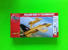 Airfix Plastic Model Kit - 1/72 Folland GNAT T.1 Yellowjacks Aircraft