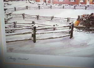 """Walter Campbell """"Country Homestead"""" Country Winter Scene Stratford Kitchener Area image 6"""