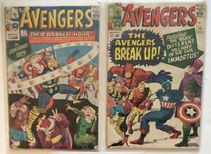 Avengers #7 & 10 from 1964