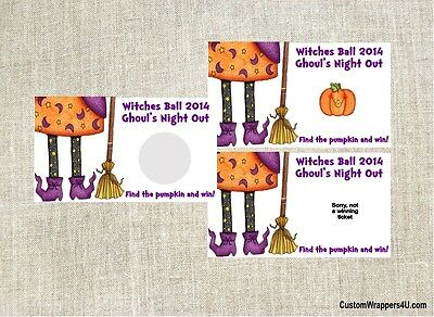 Halloween Scratch Off Tickets (Halloween Witch Party Scratch Off Tickets Game Cards Favors)