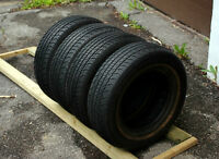 Set of four 195/70/14 all season tires in good condition