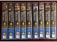 Sherlock Holmes Collection Edition Jeremy Brett David Burke 18 episodes VHS