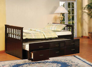 SOLID WOOD BUNK BEDS AND TRUNDLE BEDS