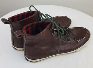 JACK & JONES Mens High Top Brown Lace Up Sneakers Shoes Size 9