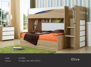 Double Bunk Bed Hydraulic Lift Storage Heavy Construction Beds