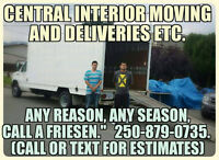 40$hr 1man,fuel, and 16ft moving van!  2men 60$hr