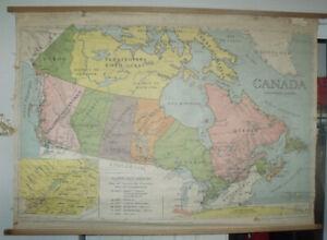 Carte géographique bien détaillée de 27 pouces de hauteur