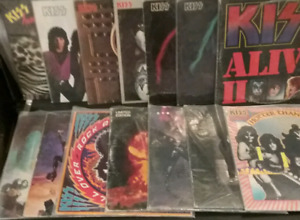 KISS record lot - 14 LPs  (18 records)
