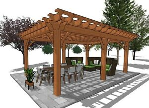 Gorgeous Pergola,Pavilion,Gazebo Kit FY Outdoor Space  Belleville Belleville Area image 6