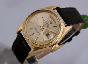 VINTAGE ROLEX PRESIDENT DAY-DATE 18K GOLD 1803/07 PIE-PAN DIAL