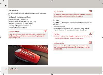 Genuine ✔️ Factory ✔️ Ferrari 488 GTB ✔️ Owner's Manual