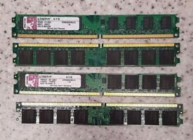 8GB (4 X 2 GB) Kingston DDR2-800 PC2 6400 240 PIN Desktop RAM
