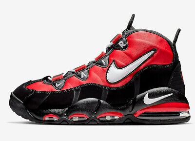 MENS NIKE AIR MAX UPTEMPO 95 CHICAGO BULLS BASKETBALL SHOES / SIZE 8 / RED