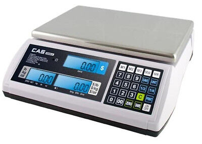 Cas S-2000 Jrlcd Price Computing Scale 30x0.01 Lbdualnteplegal For Trade