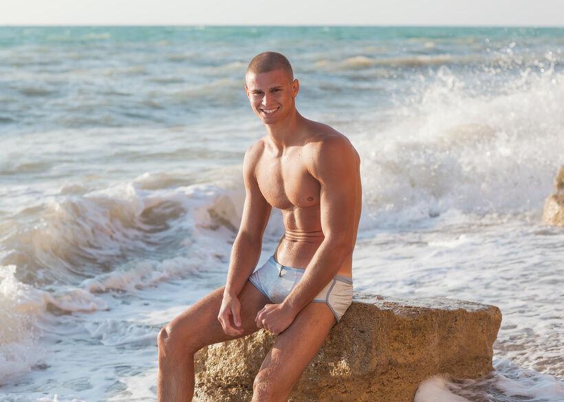 Sexy Slip: kurze Badehosen für Männer