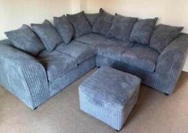 Two arm corner sofa jumbo cord always in stock