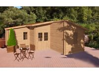 Premium 3D Log cabin. Free delivery! Sale.