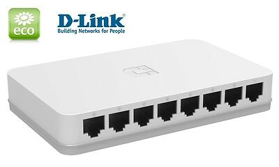 Netzwerk GIGABIT Switch 8 Ports D-Link GO-SW-8G 10/100/1000 Mbit DSL LAN HUB
