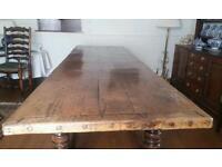 Antique oak refectory table