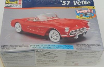 1:24 Scale Revell-Monogram ''57 Vette Deluxe kit 85-6669 SEALED R15656