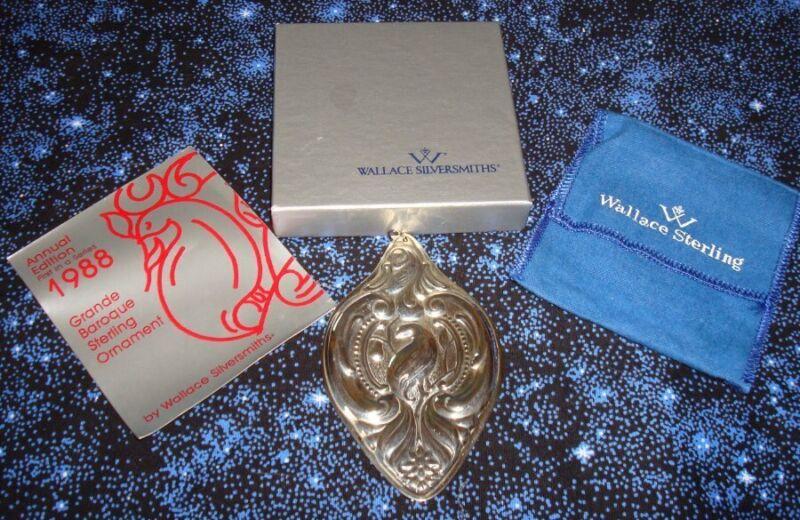 Wallace 1988  Sterling Silver Grande Baroque Ornament Partridge in a Pear Tree