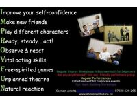 Drop in Improvised Theatre Class for fun With Lots of Short Scenes / Drama Improv Tuesday Eves