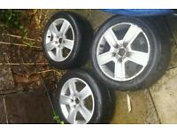 3x Genuine Audi A4 alloy wheels