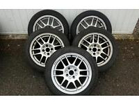Renault clio sport 172 alloy wheels and toyo t1r tyres