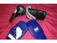 York and BBE punch mits and gloves.