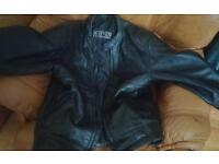 Black jacket for motorbike
