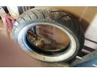 Avon Venom Whitewall tyre 150/80B16