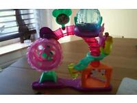 Lps littlest pet shop hamster playground