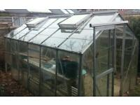 Free greenhouse 12x8ft crittal